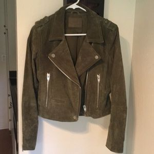 Genuine Suede Leather Moto Jacket by SL8 Blank NYC